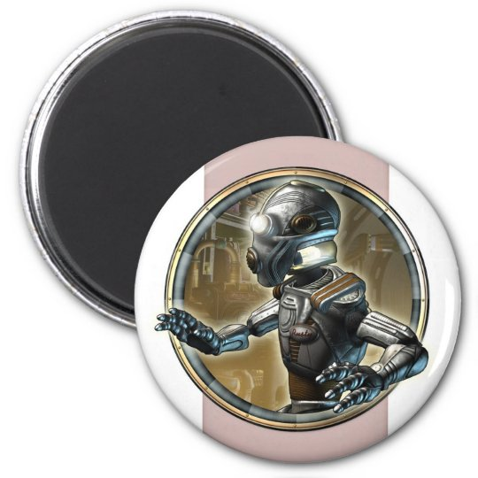 Faithful Robot Round Magnet