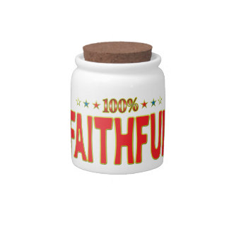 Faithful Star Tag Candy Jars