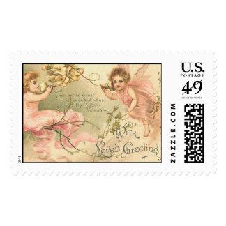 Faithful Valentine Flower Fairies Postage Stamps