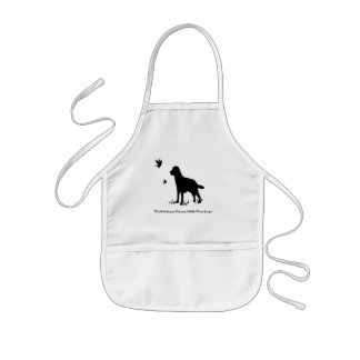 faithfullness comes with four legs kids' apron
