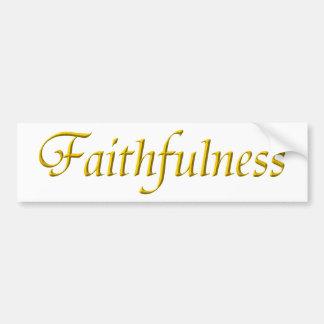 Faithfulness Bumper Stickers