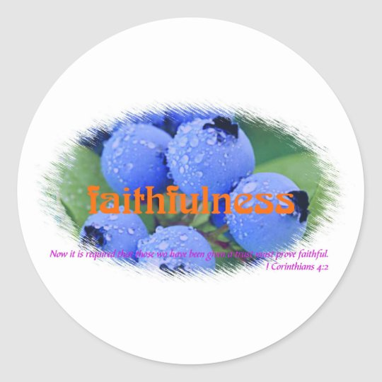 Faithfulness Classic Round Sticker