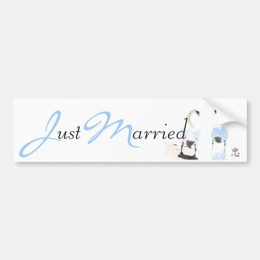 Faithfulness Just Married Bumper Sticker Car Bumper Sticker