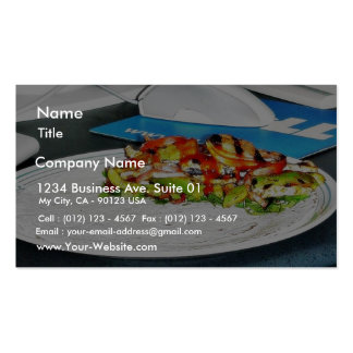 Fajitas Chicken Food Cooking Bell Peppers Onions T Business Card