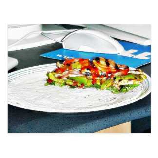 Fajitas Chicken Food Cooking Bell Peppers Onions T Post Cards
