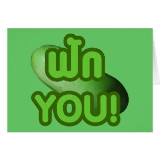 FAK YOU! ... Green Squash (Winter Melon) Greeting Cards