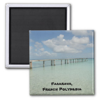 Fakarava, Polinesia francesa Imán Cuadrado