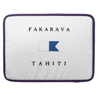 Fakarava Tahiti Alpha Dive Flag Sleeve For MacBooks