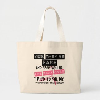 Fake and Spectacular - Real Ones Tried To Kill Me Tote Bag
