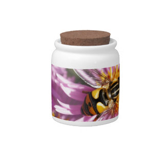 Fake Bee and Flowers Candy Jars