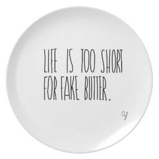 Fake Butter Melamine Plate