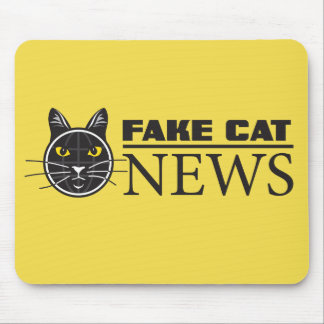 Fake Cat News Mouse Pad