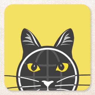Fake Cat News Tazmo Logo Coaster