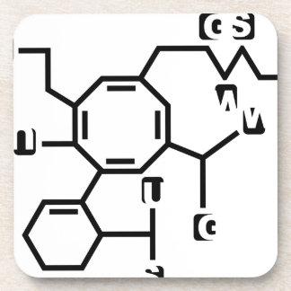 Fake chemical formula beverage coaster