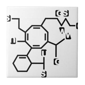 Fake chemical formula ceramic tile
