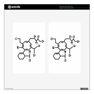 Fake chemical formula skin for kindle fire
