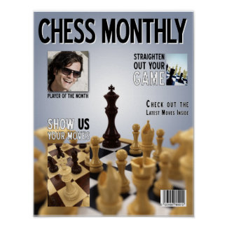 Fake Chess Magazine cover - Poster