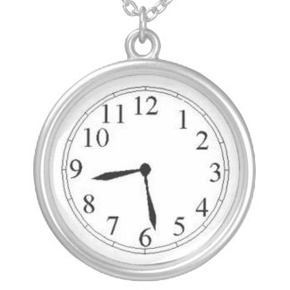 Fake Clock Necklace