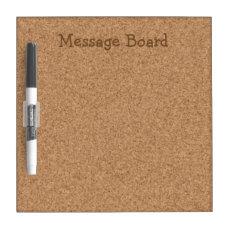 Fake Corkboard Look Dry-Erase Board