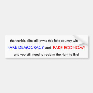Fake Country Car Bumper Sticker