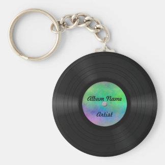 Fake Custom Vinyl Record Basic Round Button Keychain