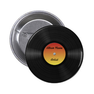 Fake Custom Vinyl Record Button
