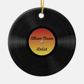 Fake Custom Vinyl Record Ceramic Ornament