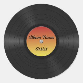 Fake Custom Vinyl Record Classic Round Sticker