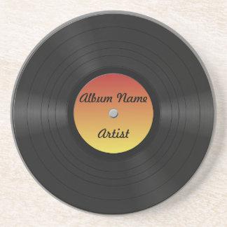 Fake Custom Vinyl Record Drink Coaster