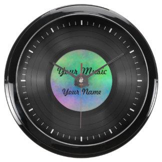 Fake Custom Vinyl Record Fish Tank Clock