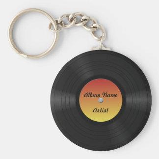 Fake Custom Vinyl Record Keychain