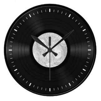 Fake Custom Vinyl Record Large Clock