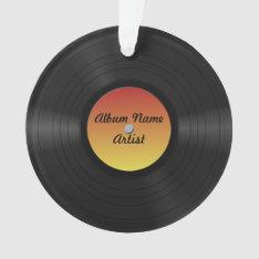 Fake Custom Vinyl Record Ornament at Zazzle
