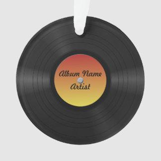 Fake Custom Vinyl Record Ornament