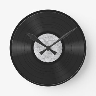 Fake Custom Vinyl Record Round Clock
