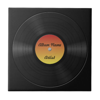 Fake Custom Vinyl Record Tile