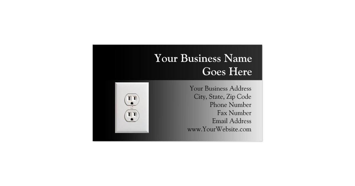 Fake Electrical Outlet Business Card : Zazzle