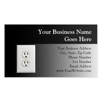 Fake Electrical Outlet Business Card