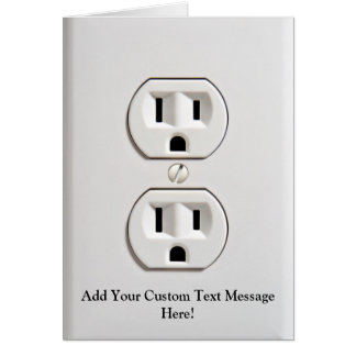 Fake Electrical Outlet Greeting Card