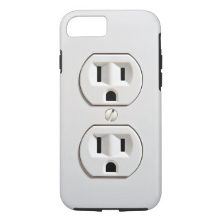 Fake Electrical Outlet Funny iPhone 8/7 Case