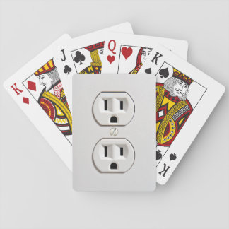 Fake Electrical Outlet Playing Cards