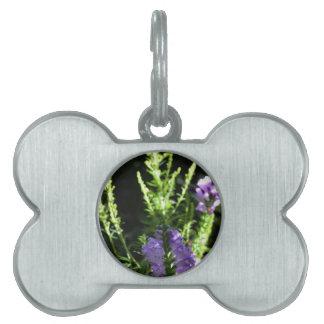 Fake Foxglove Flowers Pet Name Tags