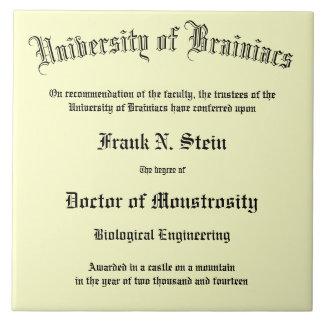 Fake Frankenstein Diploma tile