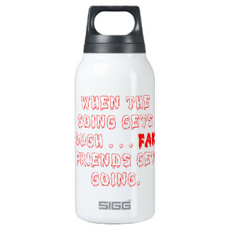 Fake Friends Don't Stay Insulated Water Bottle