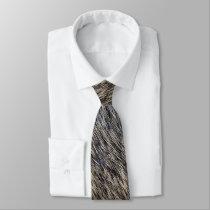 Fake fur neck tie