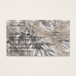 Fake Fur Texture Business Card