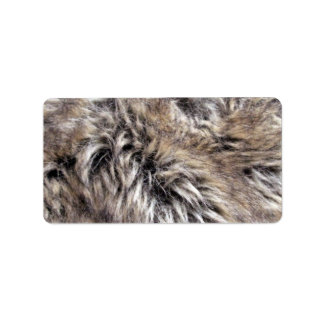 Fake Fur Texture Custom Address Labels