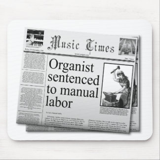 Fake headlines about organist mouse pad