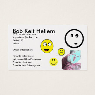 Fake ID Business Card