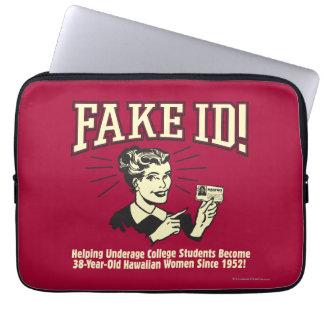 Fake ID: Underage College Hawaiian Laptop Sleeve